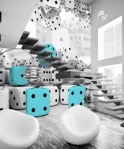 fototapeta z kostkami do gry na ścianę