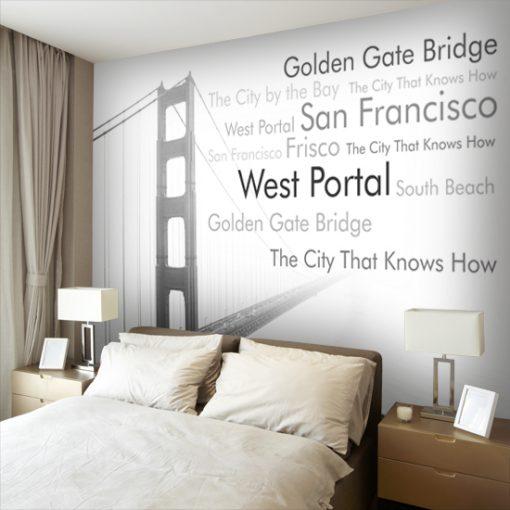 tapeta na ścianę nad łóżkiem