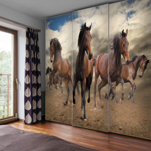 tapeta do pokoju nastolatki z końmi