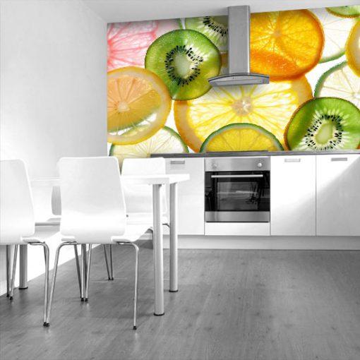 tapeta do kuchni z owocami