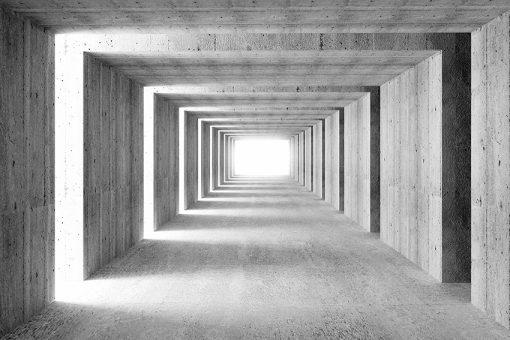 tapeta z powiększającym tunelem