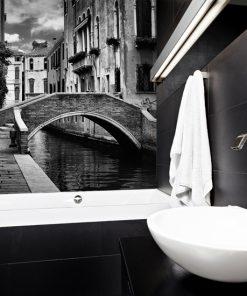 fototapeta do łazienki z panorama wenecji
