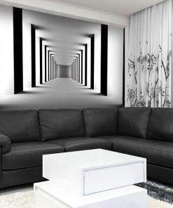 tapeta z tunelem do małego salonu