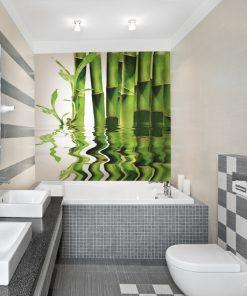 zielone bambusy na ścianę