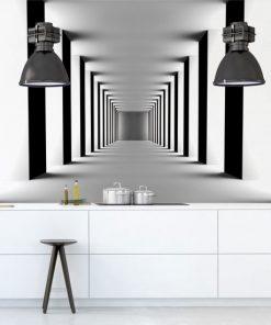 fototapeta z korytarzem do kuchni