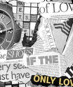 tapeta gazeta i napisy