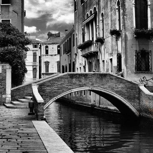 fototapeta czarno-biały most