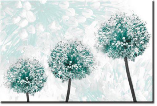 tapeta z turkusowymi kwiatami