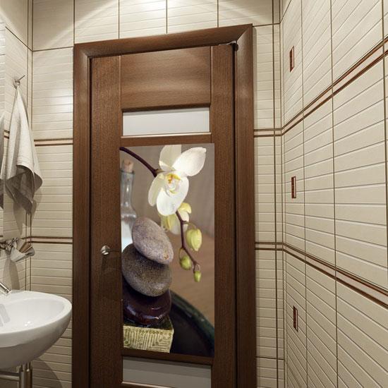 tanie naklejki na drzwi bia�y storczyk