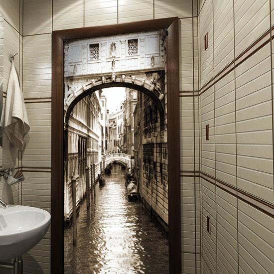 Tanie naklejki na drzwi Wenecja