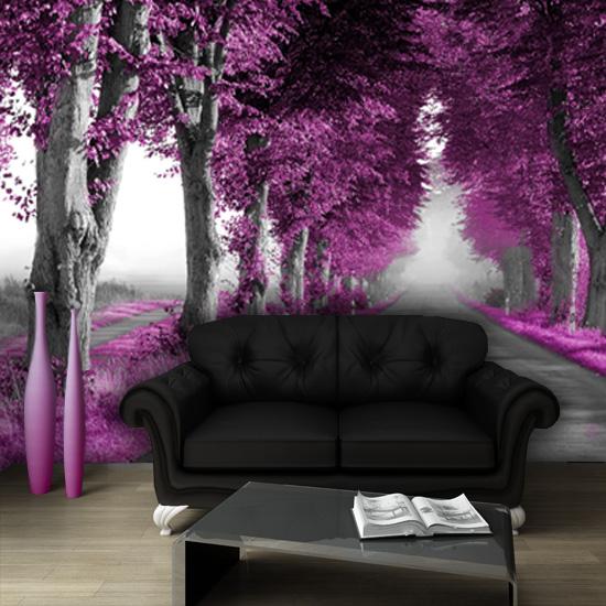 tanie fototapety fioletowe drzewa