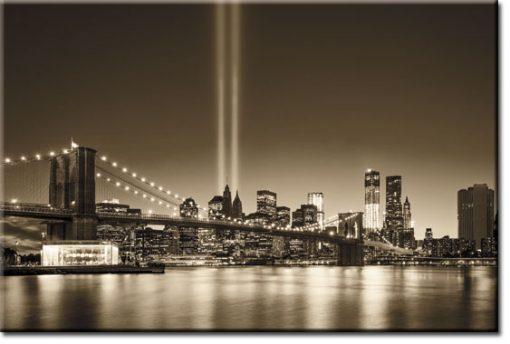 fototapeta brązowa panorama miasta