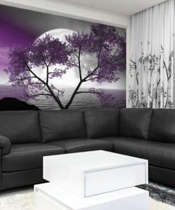 fototapeta do salonu w kolorze fioletowym
