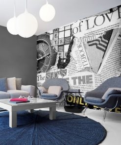 tapeta o nowoczesnego salonu z gazetą