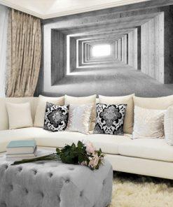 fototapeta betonowy korytarz