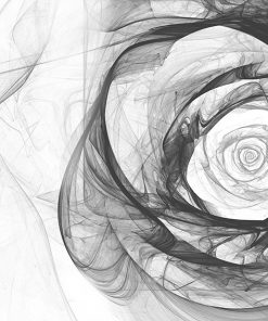 tapeta z szarym kwiatem