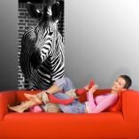 naklejka na drzwi zebra