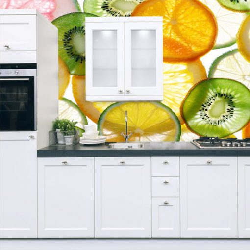 kolorowe owoce fototapeta do kuchni