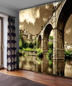 fototapeta do sypialni z mostem