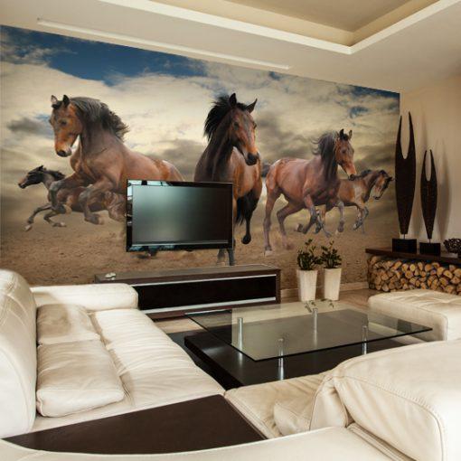konie w galopie fototapeta na ścianę