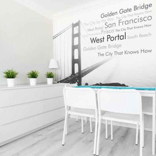 fototapeta do jadalni z mostem golden gate