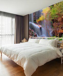 tapeta na ścianę do sypialni z krajobrazem