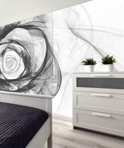 fototapeta szary kwiat na ścianę do sypialni