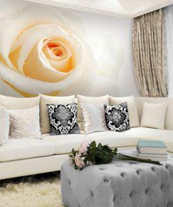 kwiatowa fototapeta do salonu