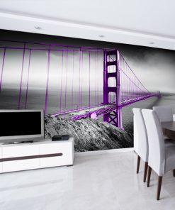 szata fototapeta z fioletowym mostem