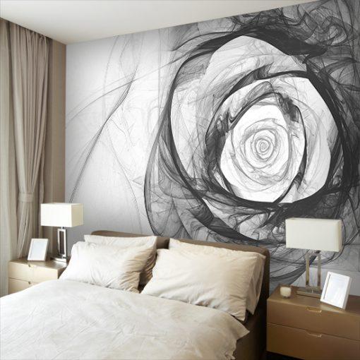 czarno-biała fototapeta z różą