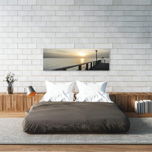 obraz molo i krajobraz do sypialni