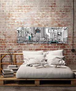 obraz ilustracja ulicy w nowym jorku