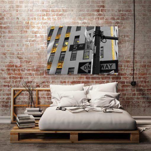 obraz do sypialni nowy jork