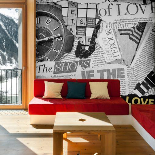 foto-tapeta gazeta na ścianę