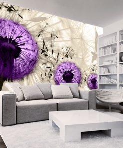 tapeta fioletowe dmuchawce d salonu
