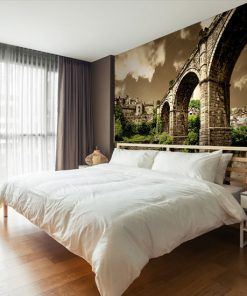 fototapeta na ścianę z łóżkiem