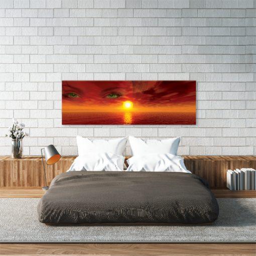obraz do sypialni z zachodem słońca