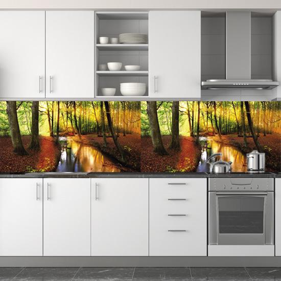 tanie fototapety pod szafki jesienny las