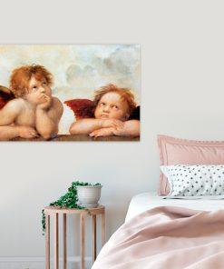 obraz z aniołkami do sypialni