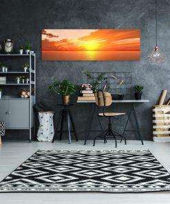 obraz na ścianę z zachodem słońca