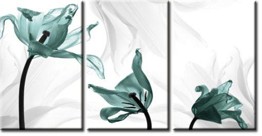 tryptyk turkusowe tulipany