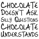 naklejka czekolada nie zadaje pytań