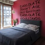 naklejka na ścianę czekolada