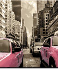 fototapeta różowe taksówki