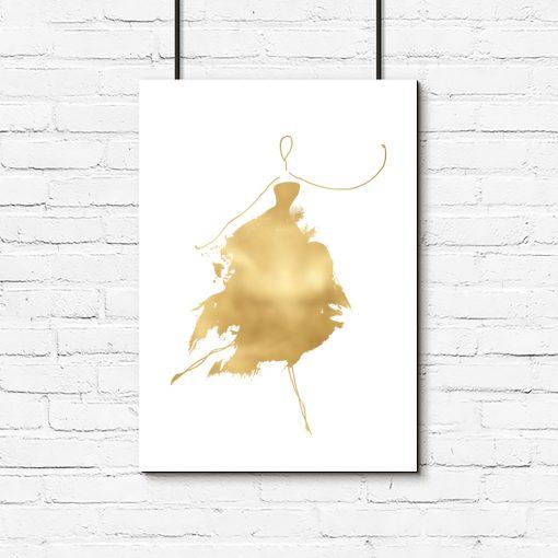 plakaty ze złotem
